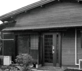 家の白黒写真